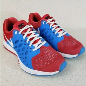 Nike Custom NIKEiD Red White Blue Running Shoes